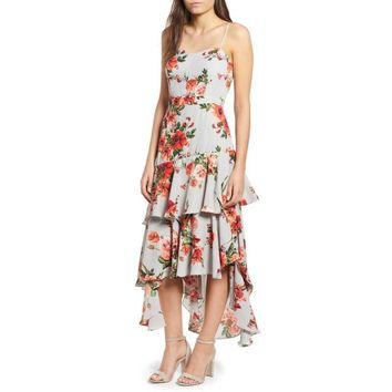 Leith Floral High/Low Dress, Size S