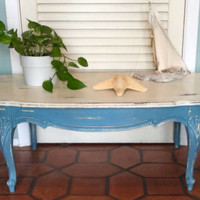 French Provincial Coffee Table Vintage 1940s