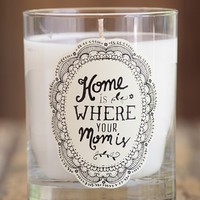 Natural Life 'Home Is Where Your Mom Is' Candle - White