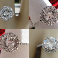 1.26CT Round Brilliant Diamond Pave Engagement Ring EGL Certified and Appraised