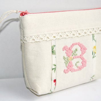 Personalized Embroidered Cosmetic Bag