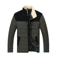 Partiss Mens Thicken Cotton-padded Outerwear