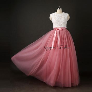 [Best Quality] 7 Layers 100cm Long Tulle Skirts Womens Pleated Skirt Fashion Wedding Bridal Bridesmaid Skirt Faldas Jupe Saias
