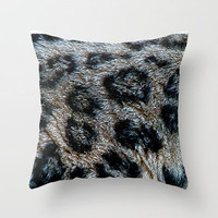 FURRY 2 Throw Pillow by catspaws | Society6