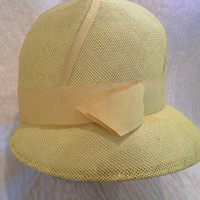 Yellow Vintage Lightweight Womans Hat