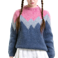 Vintage 1980s Pastel Sweetness Pullover Sweater - XS/S/M