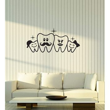 Vinyl Decal Dental Office Dentist Wall Sticker Teeth Dental Doctor Decor Unique Gift (g052)