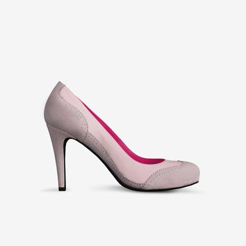 Levi Thang British High Heel Italian Leather Suede Pink