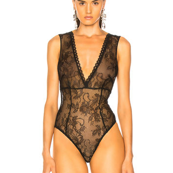 Amiri Lacy Bodysuit in Black | FWRD