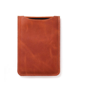 iPad mini sleeve, Leather iPad mini case in orange