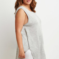 Marled Side-Zip Top