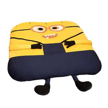 1.8x2.0m Funny Despicable Me Minions Sleeping Bean Bag Sofa Bed Twin Bed Double Bed Mattress for Adult