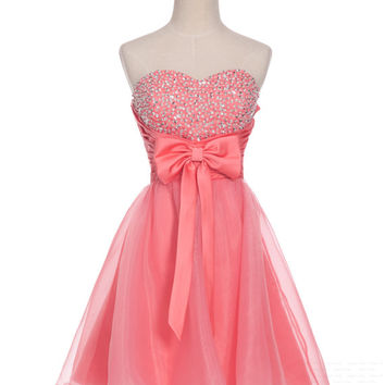 Custom A-line Sweetheart Sleeveless Above the knee organza Sequins Short Prom Dress Bridesmaid Dress Formal Evening Dress Party Dress 2013