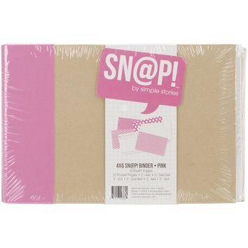 Simple Stories SNAP Studio Collection 4 X 6 Horizontal Binder Pink