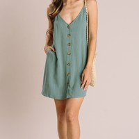 Amaya Button Cami Dress
