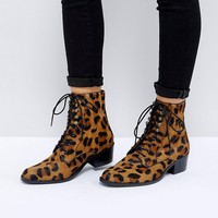 ASOS AILEEN Leather Lace Up Boots at asos.com