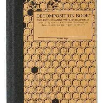 Honeycomb Pocket-size Decomposition Book: College-ruled Composition Notebook With 100% Post-consumer-waste Recycled Pages
