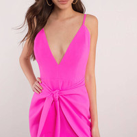 Oh Baby Wrap Front Bodycon Dress
