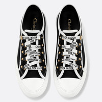 Dior WALK'N'DIOR LOW-TOP SNEAKER IN WHITE CANVAS