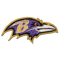 "Baltimore Ravens (Small) Iron On Patch 2.75"" X 1.375"" Embroidered Team Logo"
