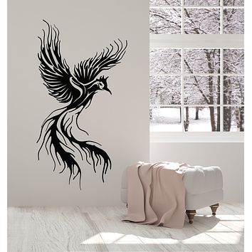Vinyl Wall Decal Phoenix Fly Bird Fantasy Fairytale Kids Room Stickers Mural (g2899)
