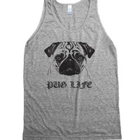 Athletic Grey Tank | Funny Pug Shirts