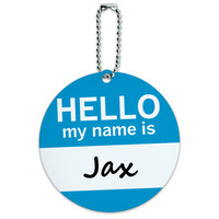 Jax Hello My Name Is Round ID Card Luggage Tag