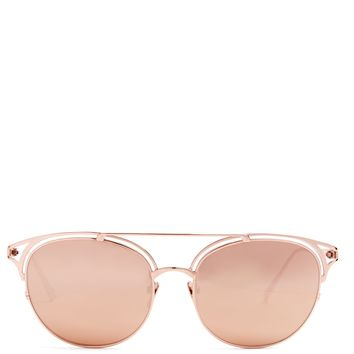 Cat-eye gold-plated sunglasses | Linda Farrow | MATCHESFASHION.COM UK