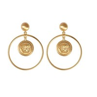 Indie Designs Versace Inspired Huge Vanitas Medusa Earrings