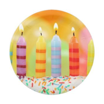 Birthday Candles Paper Plate
