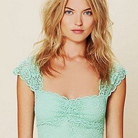 Intimately Free People  Scallop Edge Lace Crop at Free People Clothing Boutique