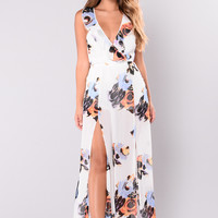 Shantae Floral Dress - Ivory