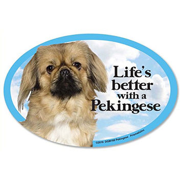 Prismatix Decal Cat and Dog Magnets, Pekingese