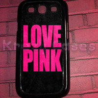 Samsung Galaxy S3 Case,Love Pink Samsung Galaxy S3 Cover, Samsung Galaxy S3 Cases, Galaxy s3 case