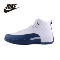 NIKE Original New Arrival AIR JORDAN 12 Basketball Shoes Breathable  Comfortable Support Sports Shoes 130690-113