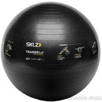 SKLZ Fitness Trainer Stability Ball Black 65 CM Self Guided Exercise Strengthen