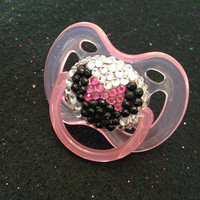 Minnie Mouse Swarovski Pacifier for Baby Girl