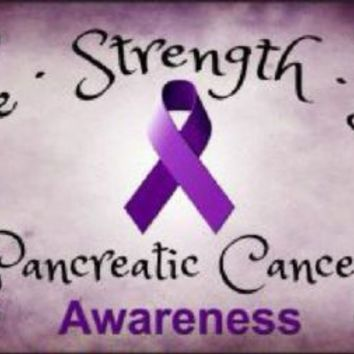 Hope Strength Love Pancreatic Cancer Awareness License Plate Tag
