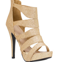 Silas Heels in Gold