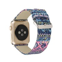 Excellent Vintage National leather Band for Apple watch 42mm Series 1/2 Colorful strap 38mm