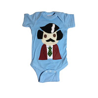 Baby Onesuit -Stay Crafty... Burgundy Jacket Man