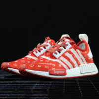 adidas NMD x SUP Supreme x LV Louis Vuitton Fashion Trending Casual Running Sports Shoes Green G-SSRS-CJZX