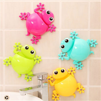 Creative Cartoon Sucker Gecko Toothbrush Wall Suction Bathroom Sets Toothbrush Holder