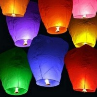 Eclipse White Flying Sky (Floating) Lantern/Kongming Light - Just Artifacts Brand