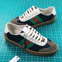 Gucci Jbg G74 Black Leather Sneake - Best Online Sale