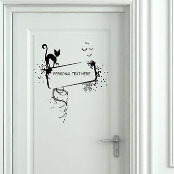 Wall Mural Vinyl Decal Sticker Sign Door Frame Personalized Text Name AL283