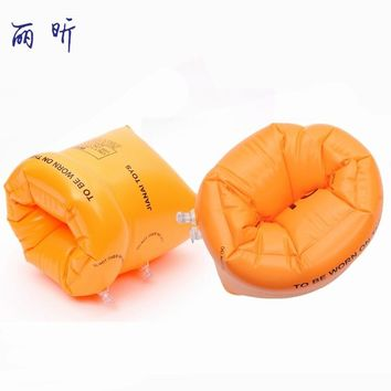 1 Pair Kids Children Swimming Rings Thicken PVC Inflatable Water Sleeve Rings Learn Swimming Armbands Water Sports Accessories