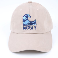 The Wavy Dad Hat in Khaki