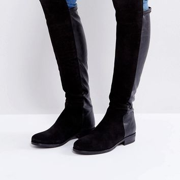 Dune Trish Suede Flat Over Knee Boots at asos.com