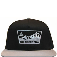The Great Pacific Northwest — Olympus Snapback - Black/Silver